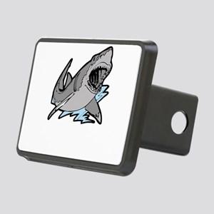 sharkattackwhite Rectangular Hitch Cover
